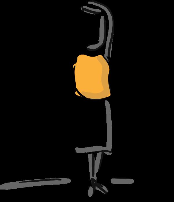 Illustration einer Person